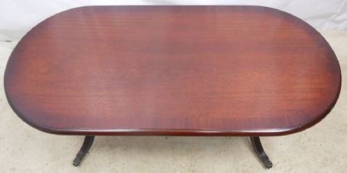 Georgian Style Large Mahogany Oval Coffee Table